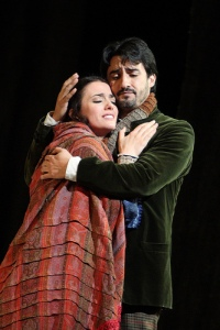 Ermonela Jaho as Mimì and Charles Castronovo as Rodolfo in La bohème © ROH / Catherine Ashmore