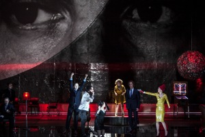 Andreas Wolf (Leporello), Rinat Shaham (Donna Elvira), Julie Mathevet (Zerlina), Topi Lehtipuu (Don Ottavio), Barbara Hannigan (Donna Anna)  © Bernd Uhlig