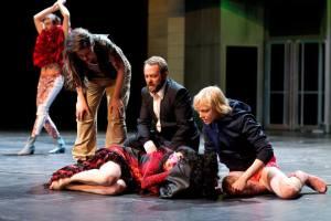 Acting in Carmen Disruption   Photo: David Baltzer