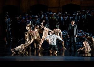 MARIUSZ KWIECIEŃ AS KRÓL ROGER, SAIMIR PIRGU AS SHEPHERD WITH DANCERS (C) ROH. PHOTOGRAPHER BILL COOPER
