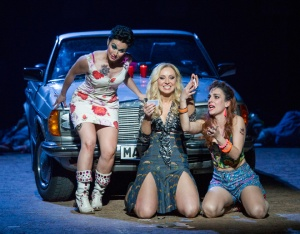 Rhian Lois, Justina Gringyte & Clare Presland in Carmen at ENO © Alastair Muir