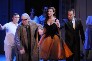 Juan Francisco Gatell, Lorenzo Regazzo,  Valentina Naforniţă & Mariusz Kwiecień. Photo: © A Bofill/Gran Teatre del Liceu