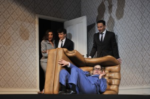 Valentina Naforniţă, Juan Francisco Gatell, Lorenzo Regazzo & Mariusz Kwiecień Photo: © A Bofill/Gran Teatre del Liceu