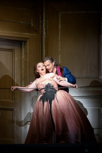 Albina Shagimuratova as Anna & Christopher Maltman as Giovanni Dorothea Röschmann as Elvira & Christopher Maltman as Giovanni © ROH Photographer Bill Cooper