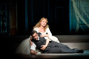 Yulia Lezhneva as Zerlina & Nahuel di Pierro as Masetto  © ROH Photographer Bill Cooper