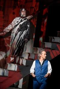 Eric Halfvarson as the Commendatore & Christopher Maltman as Giovanni © ROH Photographer Bill Cooper