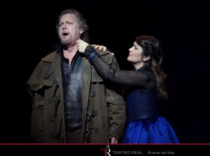 Gregory Kunde (Roberto Devereux) y Silvia Tro Santafé (Sara, duchessa di Nottingham) © Javier del Real | Teatro Real