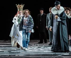 As the Priest in Jüri Reinvere's Peer Gynt in Oslo with Kari Ulfsnes Kleiven & Nils Harald Søda. Photo © Erik Berg / The Norwegian National Opera & Ballet