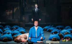 Pádraic Rowan, Neal Cooper, Christopher Gillett, Chorus of Northern Ireland Opera © Northern Ireland Opera