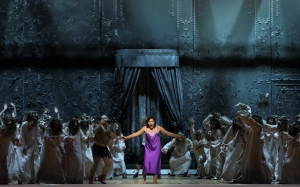 Kevin Conners, Svetlana Sozdateleva and Ensemble in the Fiery Angel at the Bayerische Staatsoper © Wilfried Hösl