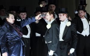 George Petean, Anatoly Sivko, Scott Conner, Chor der Bayerischen Staatsoper © Wilfried Hösl