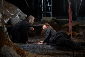 As Wotan with Christine Goerke as Brünnhilde in the Canadian Opera Company production of Die Walküre, Photo: © Michael Cooper