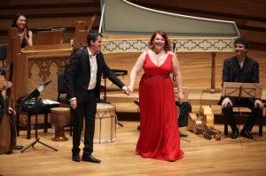In concert with Philippe Jaroussky. Photo used with the kind permission of Miss Lemieux.