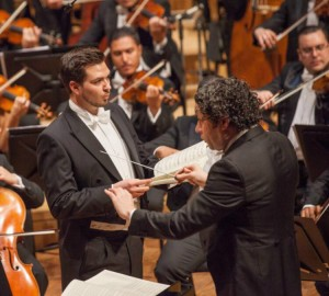 Singing in a concert performance of Die Schöpfung in Caracas conducted by Gustavo Dudamel.  Photo used with the kind permission of Mr Kammler.