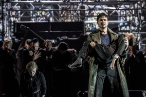 As the baritone soloist in Calixto Bieito's staging of the War Requiem in Oslo © Erik Berg